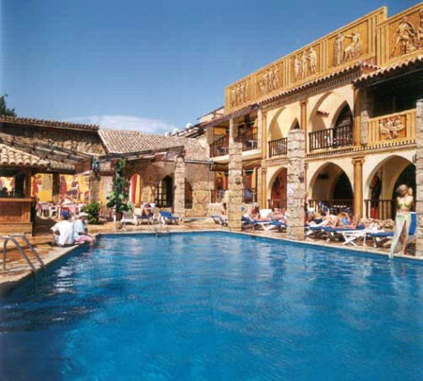 Roman Hotel In Pahos On The Holiday Island Of Cyprus