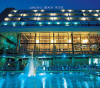 The Pool and Hotel by night at the Amathus Beach Hotel. Click to enlarge this photograph