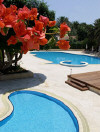 Swimming Pools at the Curium Palace Hotel. Click to enlarge this photograph