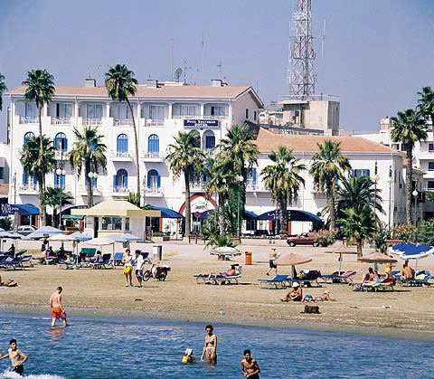 Four Lanterns Hotel In Larnaka On The Island Of Cyprus