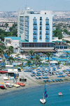 Lordos Beach Hotel in Larnaka. Click on to enlarge this photograph