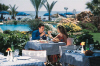 Enjoy the refreshing outdoor restaurant at the Sandy Beach Hotel in Larnaka, Cyprus. Click to enlarge this photograph