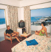 Vrissiana Beach Hotel front sea view bedroom, click to enlarge this photograph